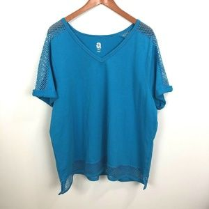 Avenue Top Shirt Size 18/20 Mesh Short Sleeves
